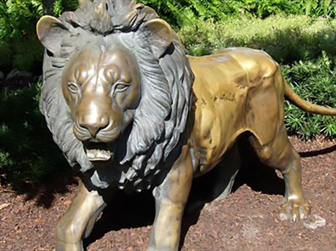 Outdoor Garden Mammals Bronze Animals Large Lion Sculpture