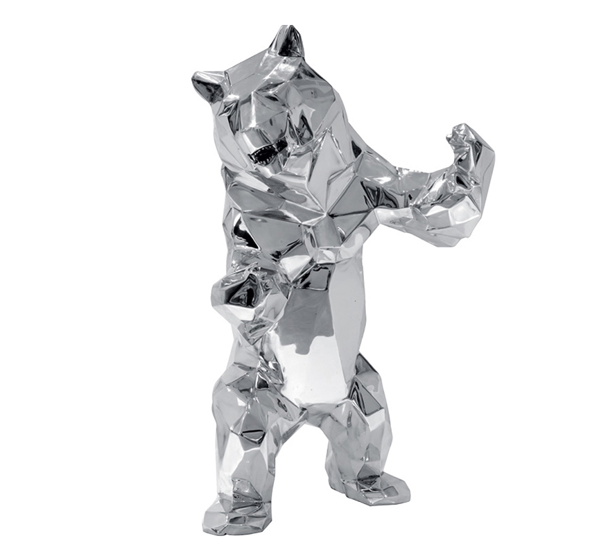 Attractive Metal Standing Bear Stainless Steel Sculpture for Sale