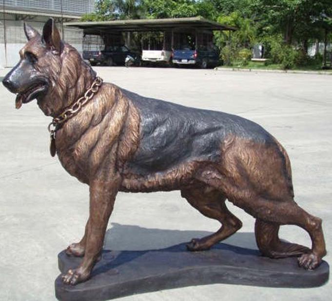 metal dog sculptures for sale