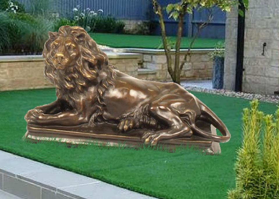 reclining lion statue