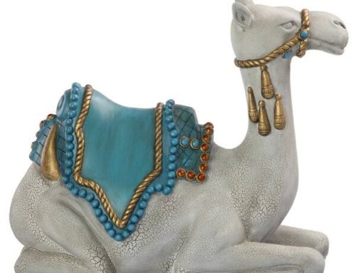 Kneeling Life Size Resin Camel Sculpture For Sale