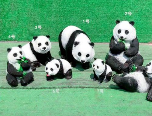 Best Selling Ornament Resin Panda Sculptures
