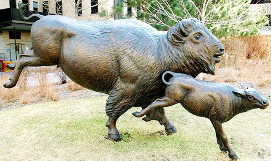 Popular bronze safari animal statues