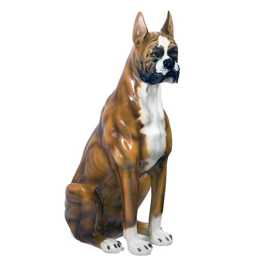 Yard Lawn Decoration Sitting Dog Resin Sculpture