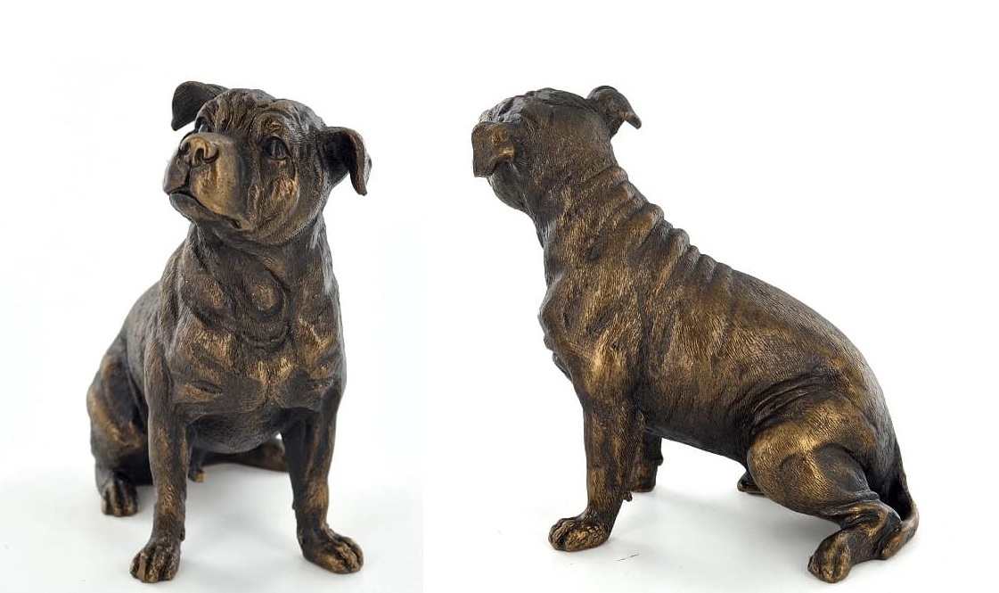 Lovely Staffy dog garden ornaments