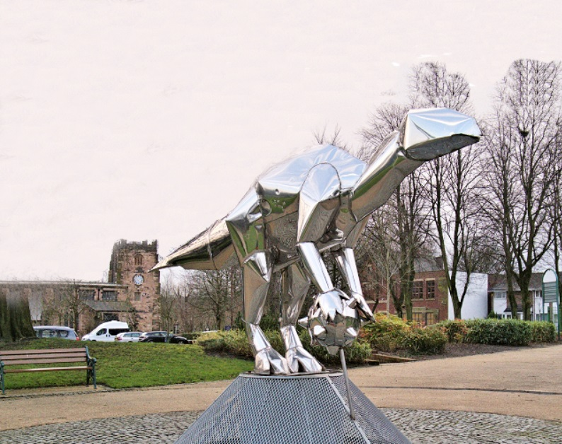 Hot Sale High Quality Stainless Steel Dinosaur Sculpture for Park Decoration