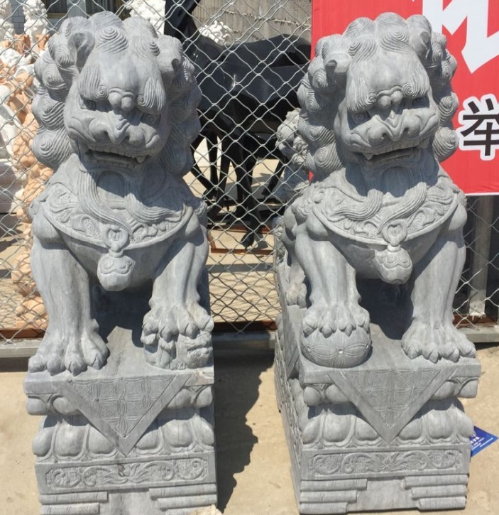 Chinese Style Famous Temple Dog Statue For Outdoor