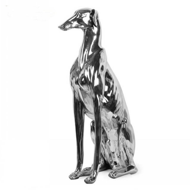 vivid dog statues