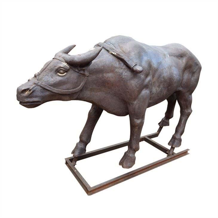 Large Size Water buffalo statue bronze decoration Animal Sculpture