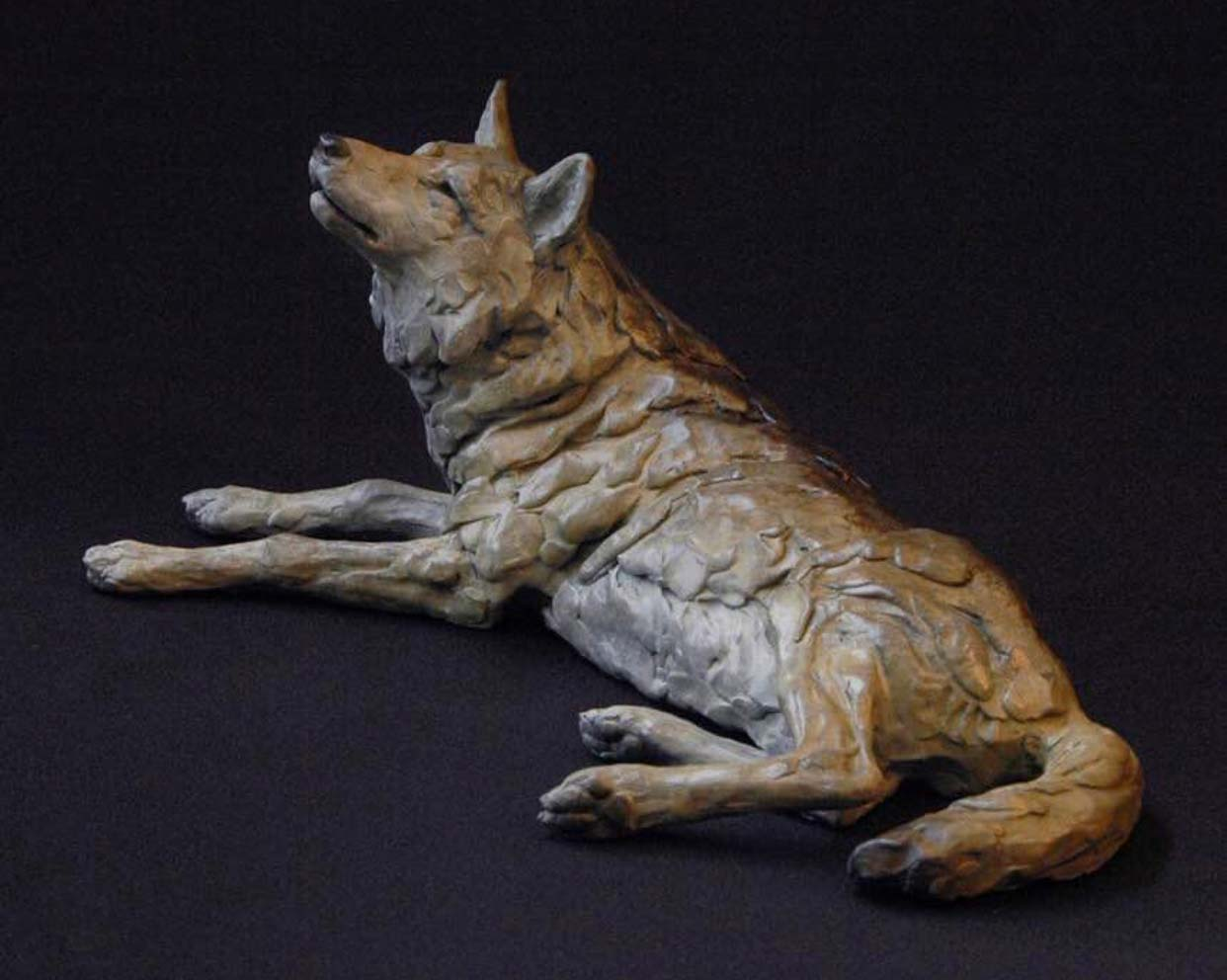 Factory Popular Animal Ornament Bronze wolf statue by Jim Eppler
