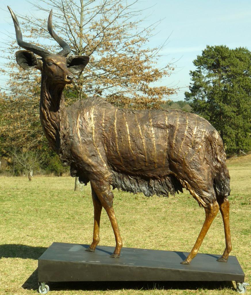 Large Decoration Bronze Antelope Outdoor Sculpture