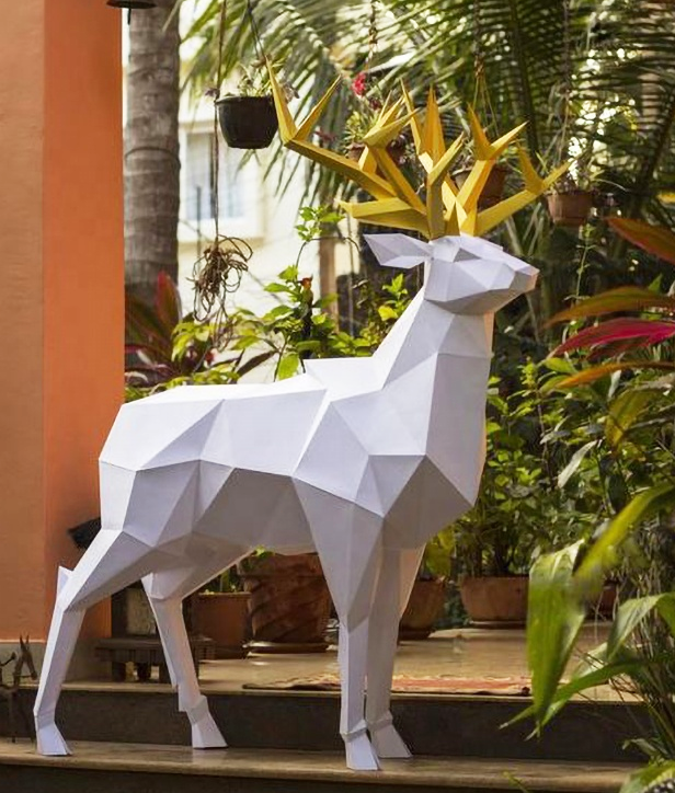 Outdoor Large Garden Cast Cheap Life Size Resin Deer Statues