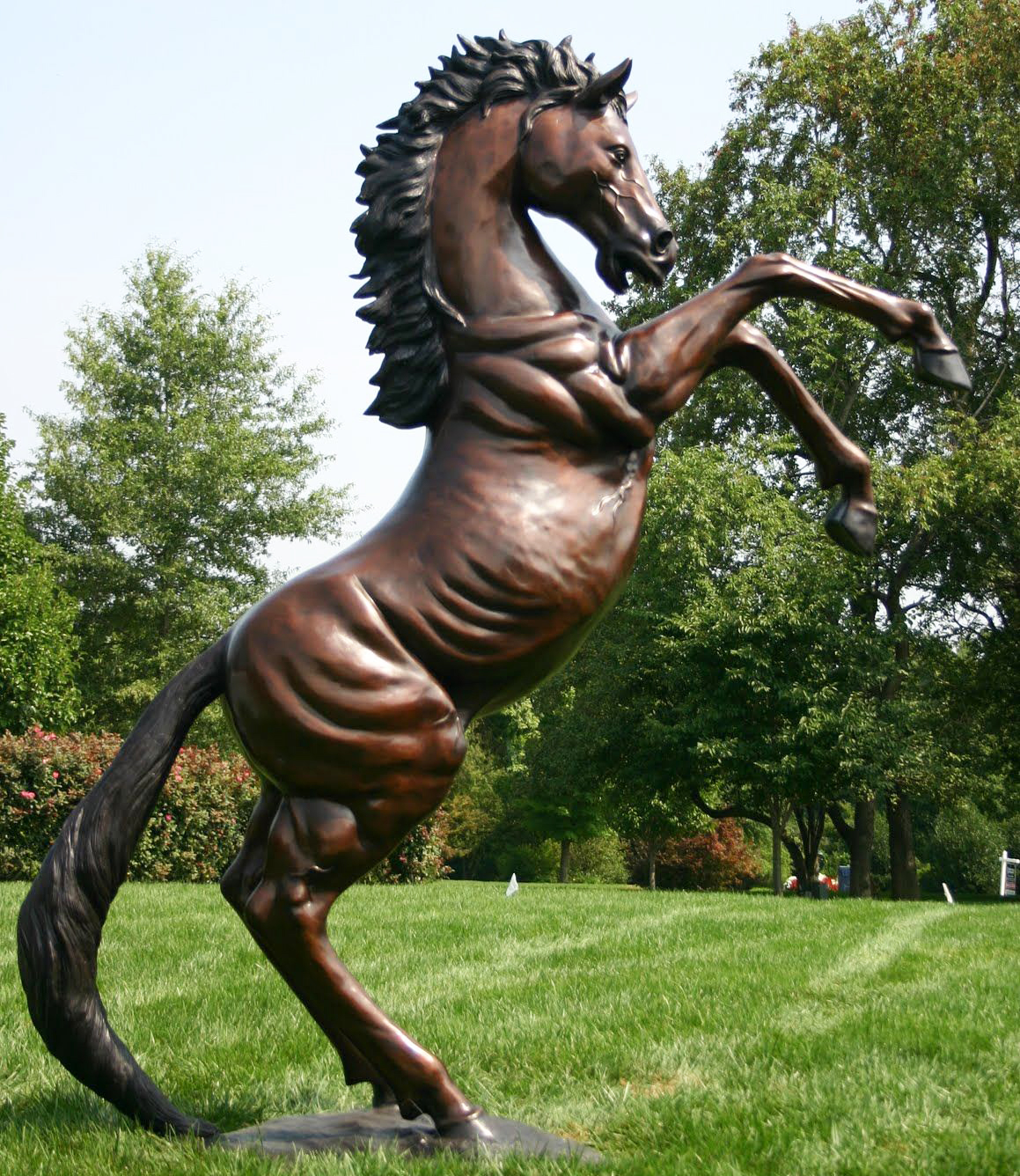 Large Jumping Outdoor Garden Bronze Horse Sculpture