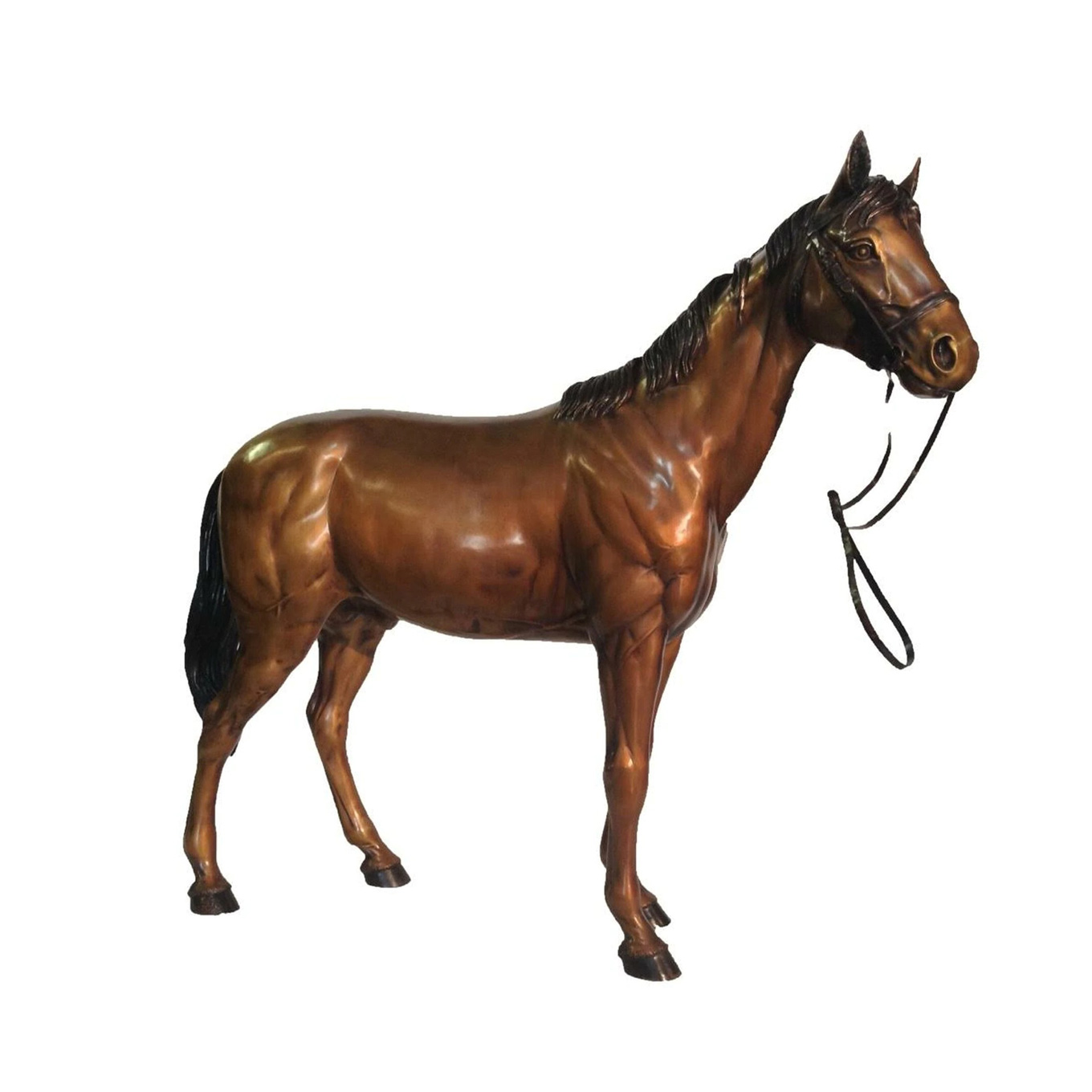 Large Life Size Art Decoration Outdoor Horse sculpture of Brown Horse