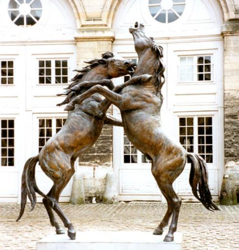 Large Outdoor fighting horse bronze sculptures for sale