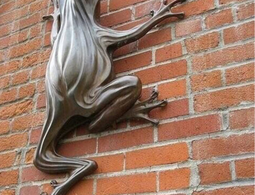Wall Decor Customized Modern Design of Frog Bronze Sculpture