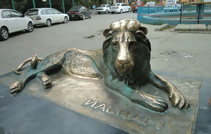 Bronze Lying Large Lion Statue for Outdoor Driveway Decoration