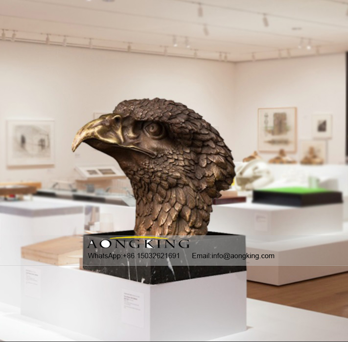 The Work of Art Bronze Famous Life Size Eagle Head Statue