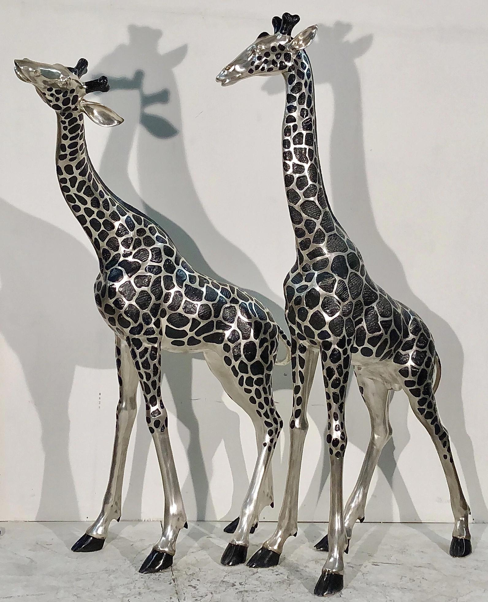Large Life Size Cast Bronze Giraffe Garden Statue Aluminum Animal