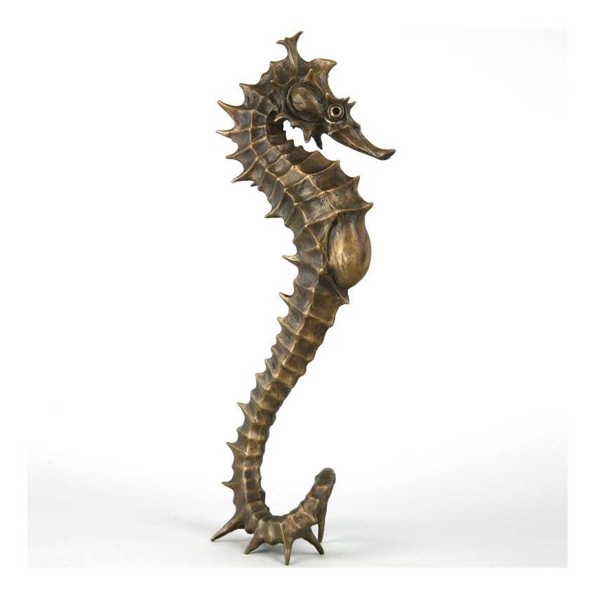 Bronze Life Size Outdoor Indoor Decoration Marine Animal of Sea Horse