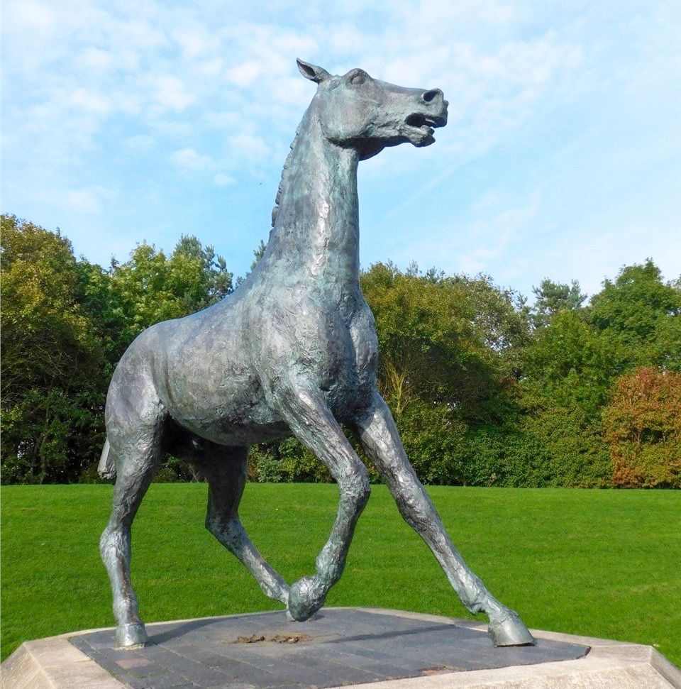Bronze Outdoor Decoration Art of Large Outdoor Animal Horse Statues
