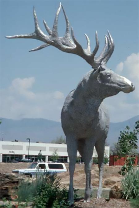 Bronze Cast Outdoor Large Size Wildlife Animal Elk Garden Art Sculpture