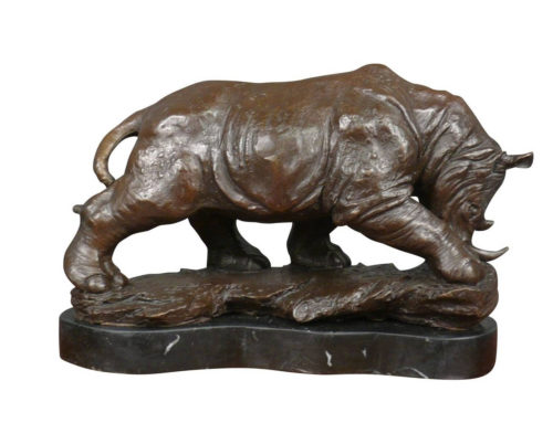 Large Life Size Outdoor Cast Bronze Animal Sculpture