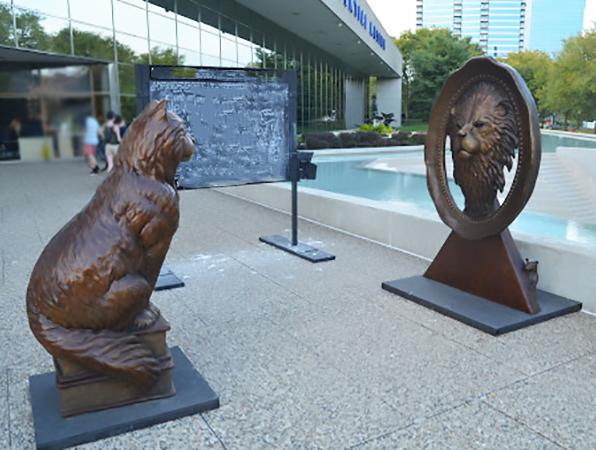Story animals bronze statue of 'DARE TO DREAM BIG' by Chris Navarro
