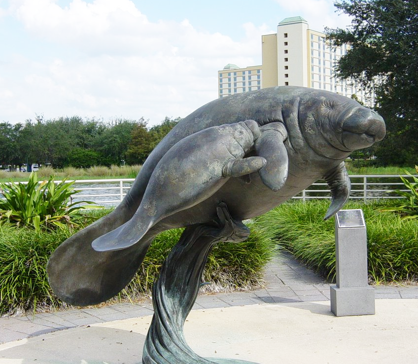 Seaside Ornament sea cow statue for aquarium park
