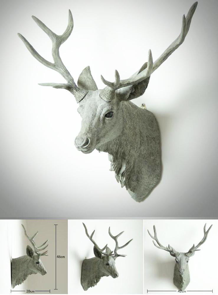 Best Selling Home Wall deer head Fiberglass sculpture