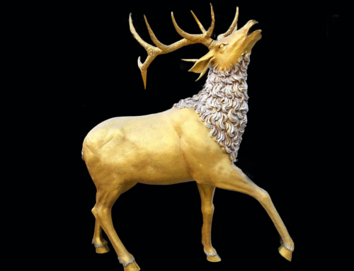 Wildlife Outdoor Indoor Life Size Elk Statue for Home Decor