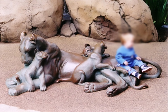 Sweet Family Lying Lovely Popular Bronze Animal Statue of Pride of Lion