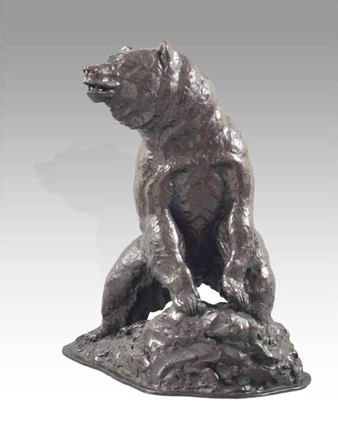 High Quality Life Size Bronze Bear Statue for Metropolitan Museum