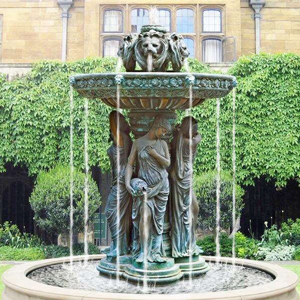 Figures Outdoor Garden Brass Water Fountain Sculpture of Large Bronze Lion Head