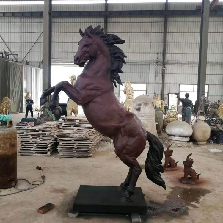 Jumping Horse Sculpture