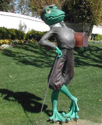 Garden animal figures golf frog statue