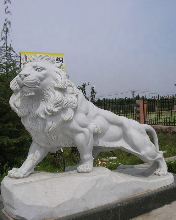 Large Life Size Marble Stone Lion Statue Mold