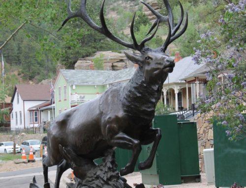 Life size moose bronze statue elk statuefor sale