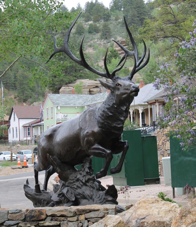 Life size moose statue elk statue