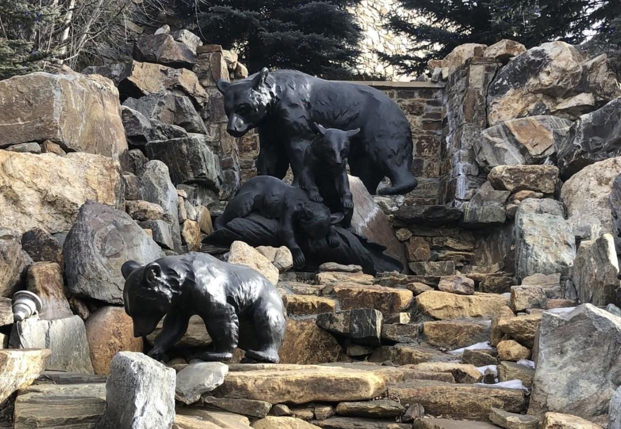 Polar bear sculptures