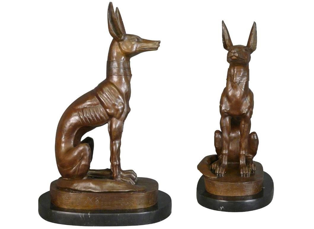 Customized ancient Egyptian Anubis Jackal dog sculpture for outdoor decoration