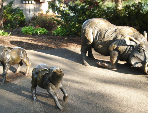Hot sale customized artificial carved patina bronze wild boar sculpture for outdoor