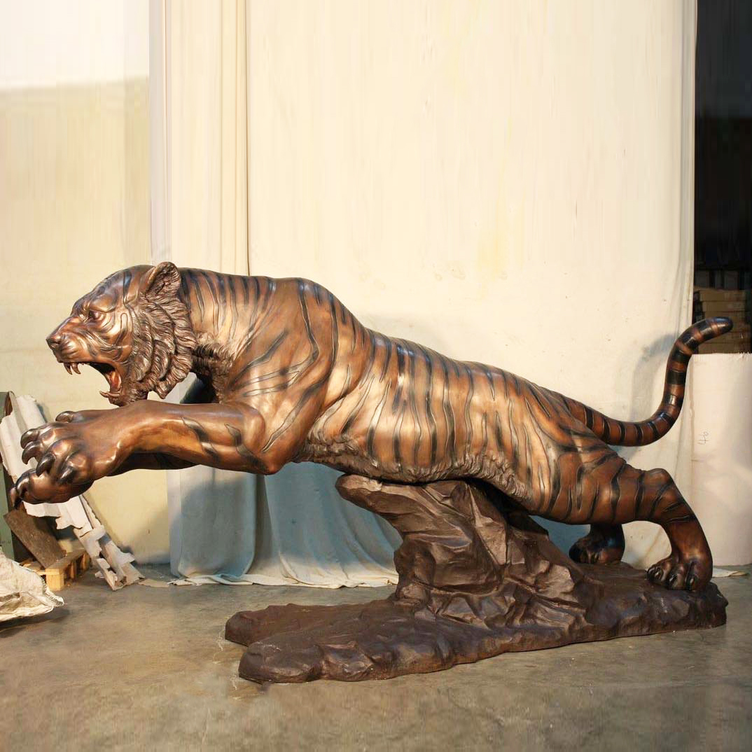 Large Decoration Art of Brass Tiger Statue