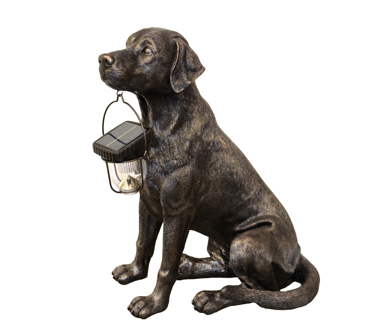 Contemporary custom handmade patina bronze Labrador statue for garden