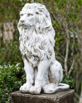 lion sculpture garden decor