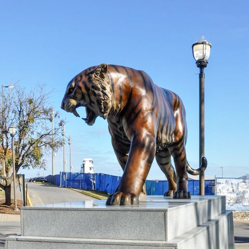 Large Outdoor Life Size Bronze Siberian Tiger Sculpture