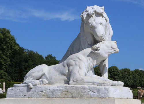 stone lions for garden for sale