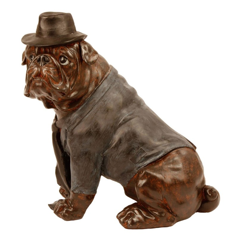 Bronze wear hat sculpture English bulldog puppies copper Art decoration gift