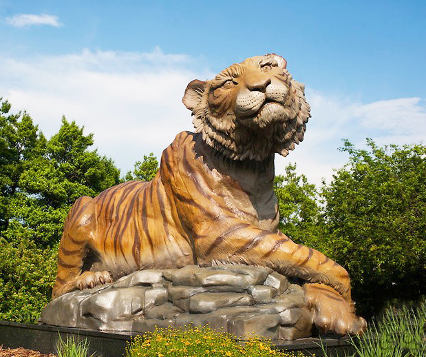 wild animals art list, tiger statue