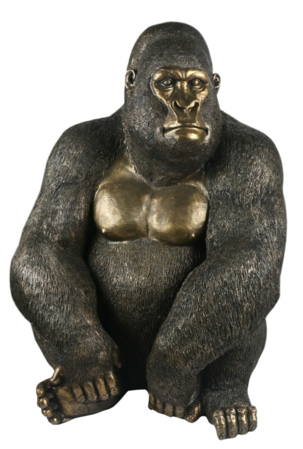 Gorilla Sitting Sculpture